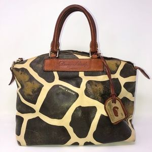 Dooney & Bourke leather satchel purse giraffe
